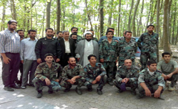 برگزاری جلسه حلقه صالحین نیروهای بسیجی شرکت نکا چوب در منطقه جنگلی افرایی دارابکلا